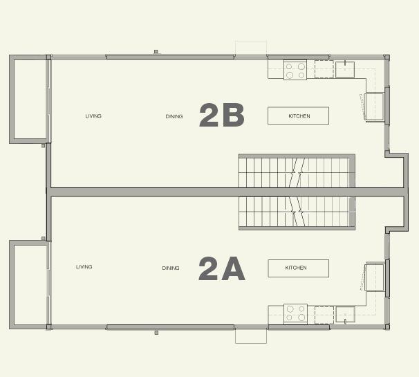 Townhouse 2A & 2B—2nd Floor