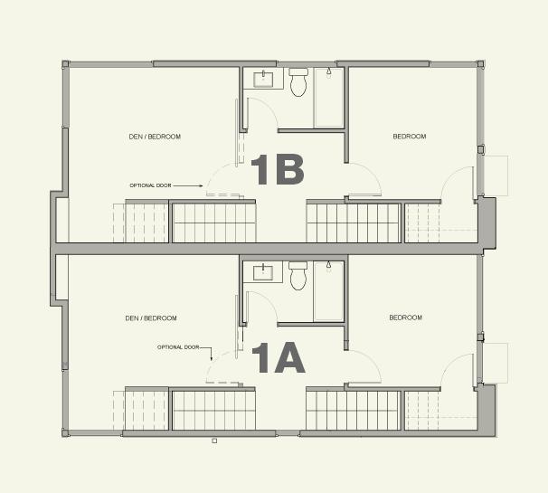 Townhouse 1A & 1B—2nd Floor