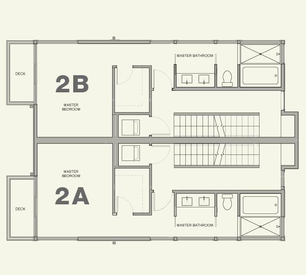 Townhouse 2A & 2B—3rd Floor