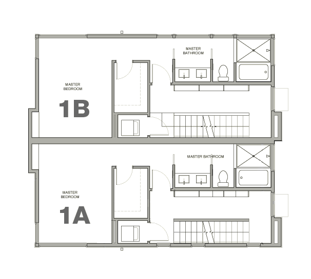 Townhouse 1A & 1B—3rd Floor