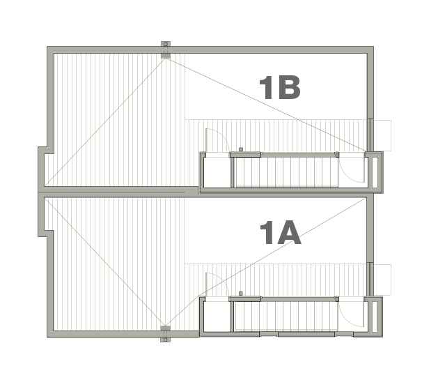 Townhouse 1A & 1B—Rooftop