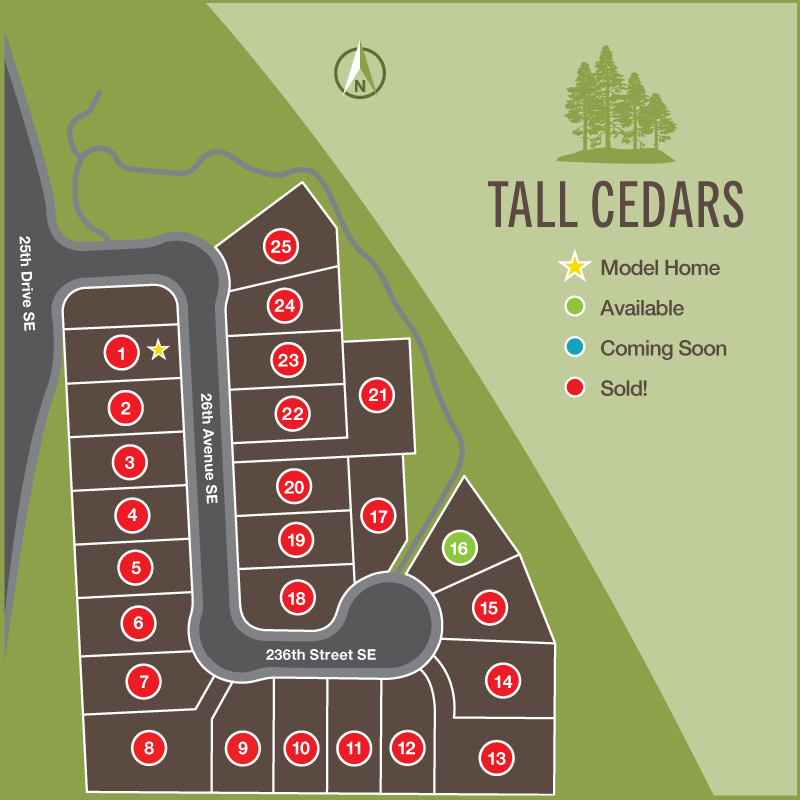 Plat Map - Total of 25 Lots—Only 1 Home Left!Green Space with Walking TrailsConveniently Located