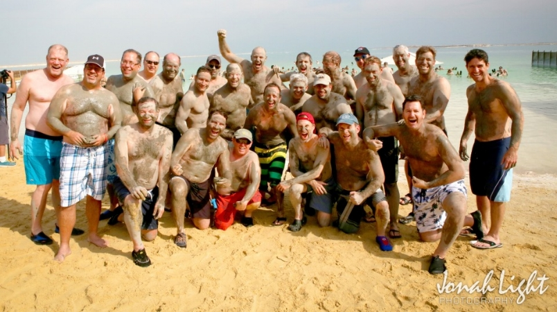 Warriors on the beach at the Dead Sea. That's me in back.