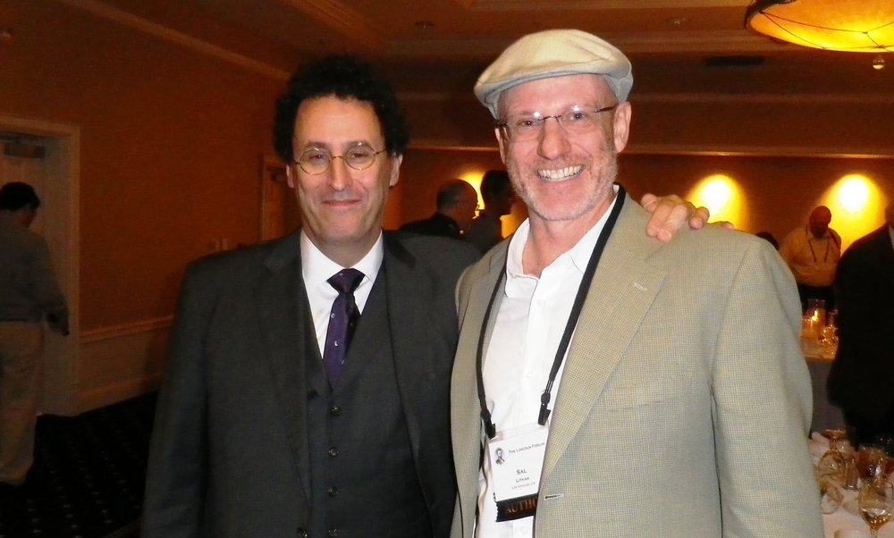 The author and Tony Kushner at the 150th Anniversary of the Gettysburg Address.