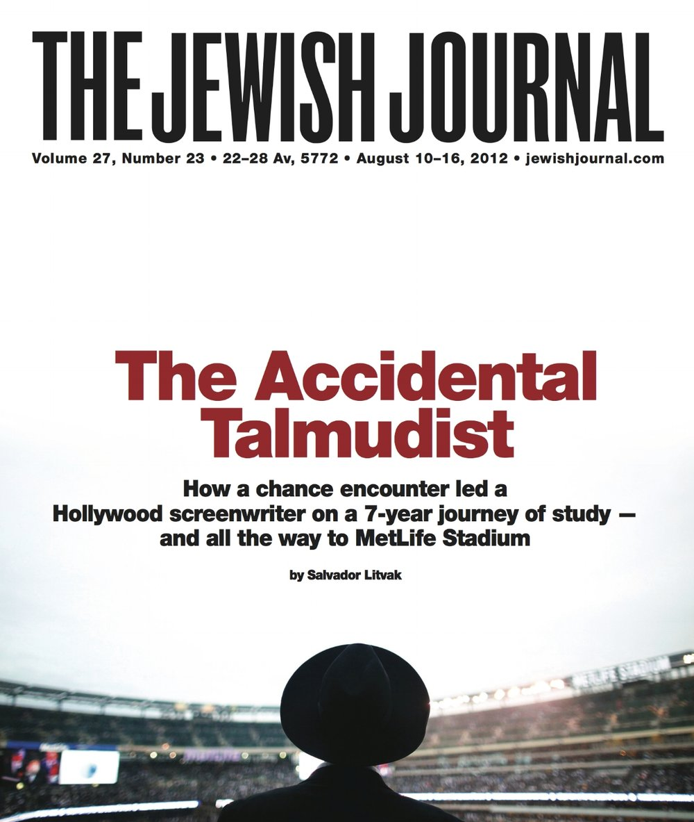 Jewish Journal Cover - Accidental Talmudist - 8-10-12.jpg