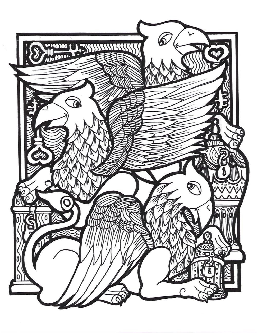 3 Griffins Coloring Page.png