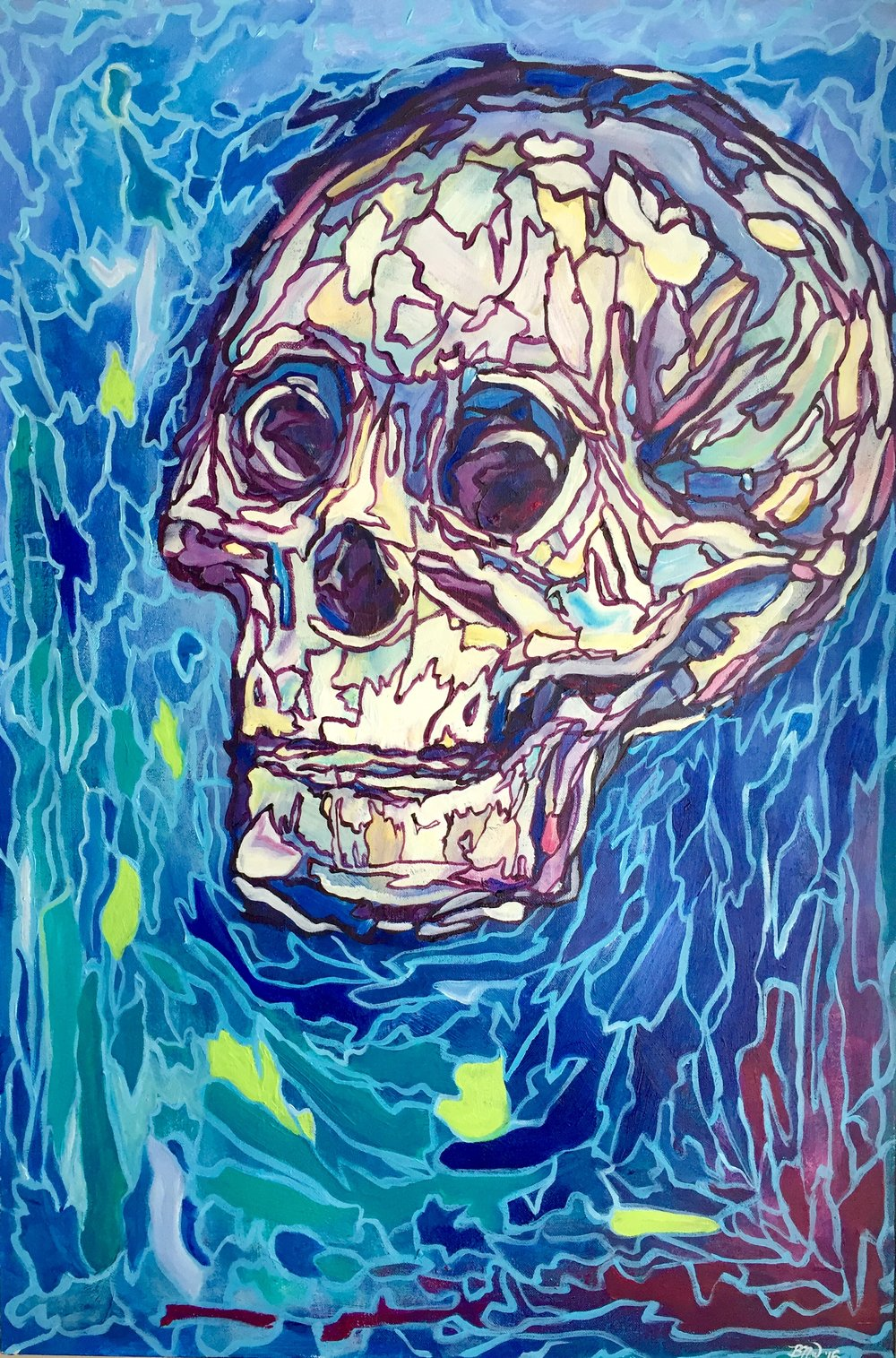 Inner Piece   2016. Acrylic on canvas. 24 x 36.  $800