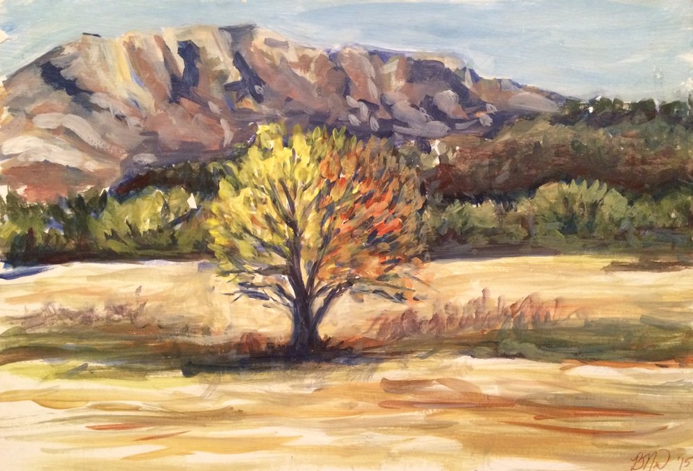 Monte Sainte-Victoire Landscape   2015. Oil on gessoed cardboard.