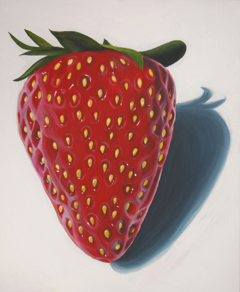 Strawberry   2011. Acrylic on canvas. 24 x 30.
