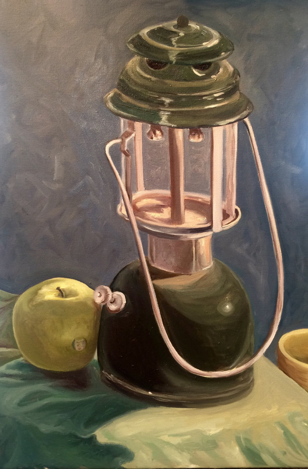 Still Life in Green   2016. Oil on canvas. 24 x 30.