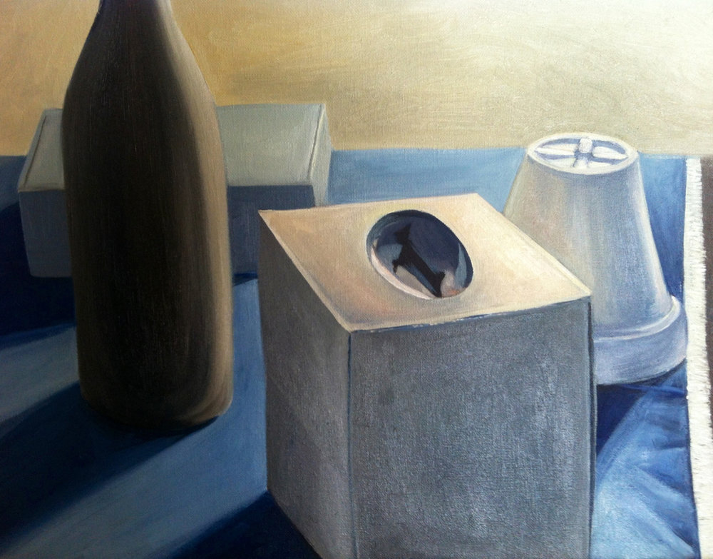 Still Life in Blue   2013. Oil on canvas.