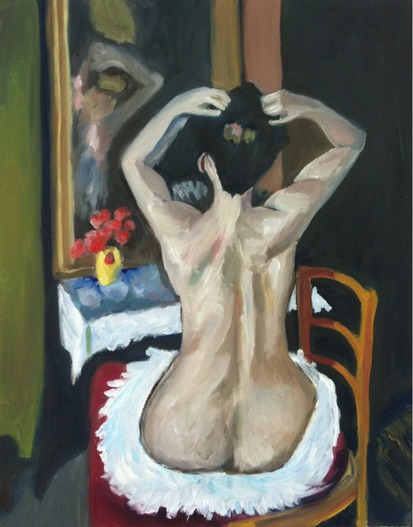 "Master Copy of Henri Matisse's ""La Coiffure""   2013. Oil on canvas."