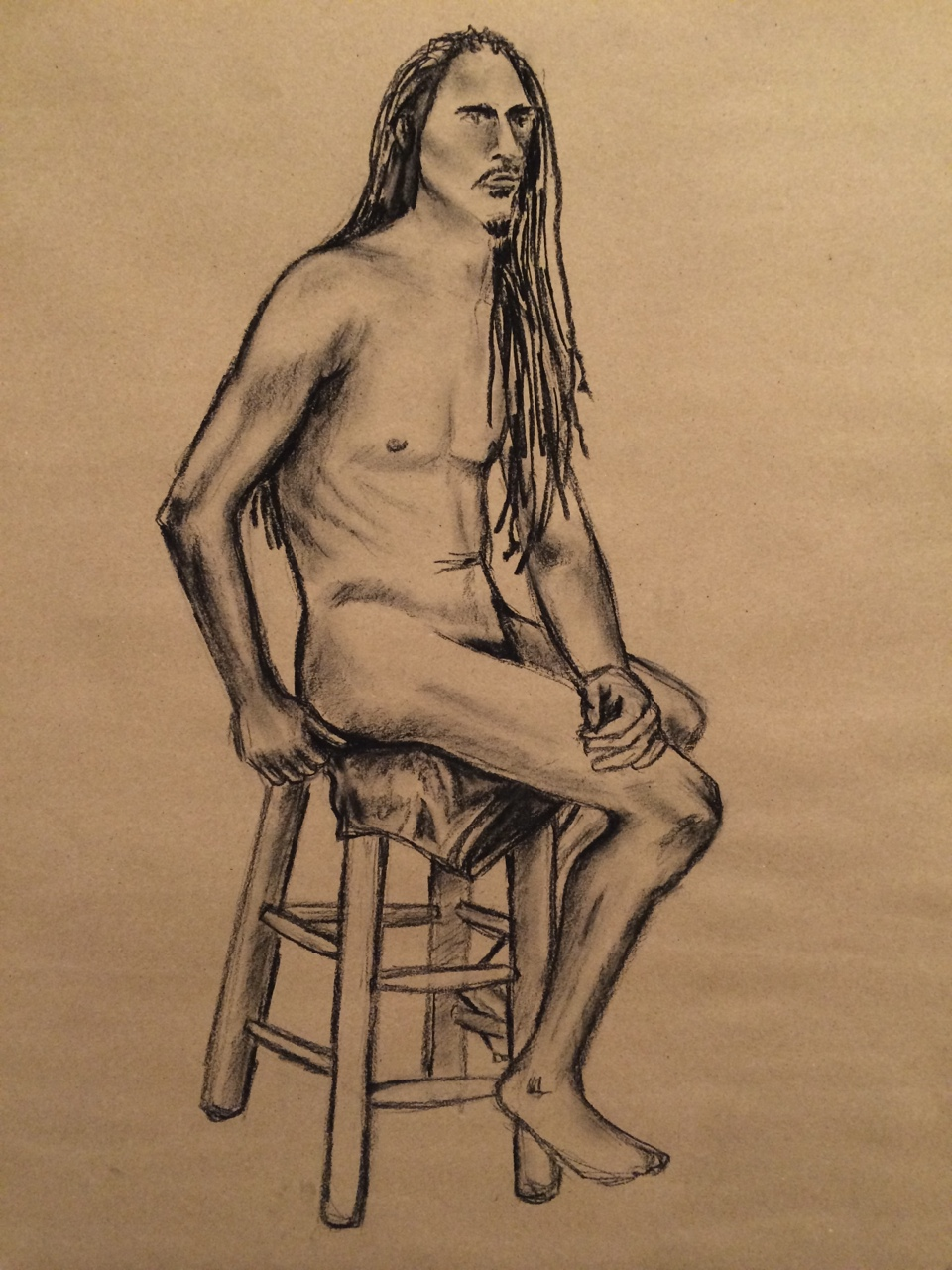 Figure Sketch I   2014. Charcoal on paper.