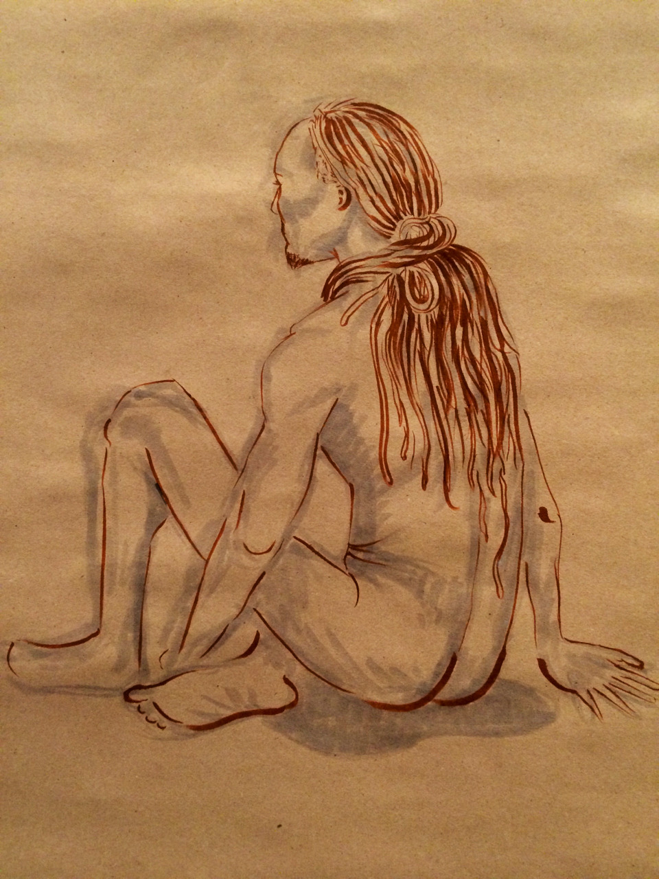 Figure Sketch II   2014. Markers on paper.