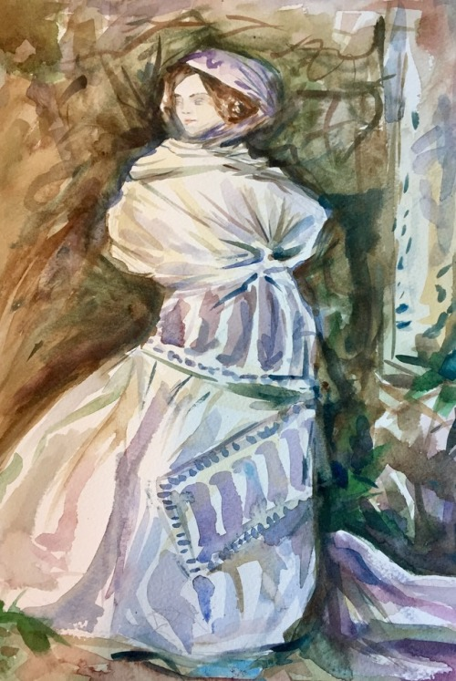 Master copy, John Singer Sargent   2016. Watercolor on paper.