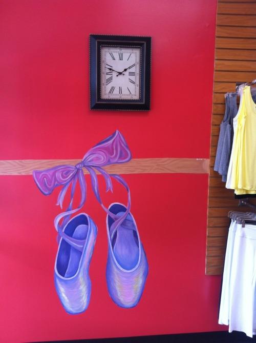 Ballet Slippers   2013. Acrylic mural