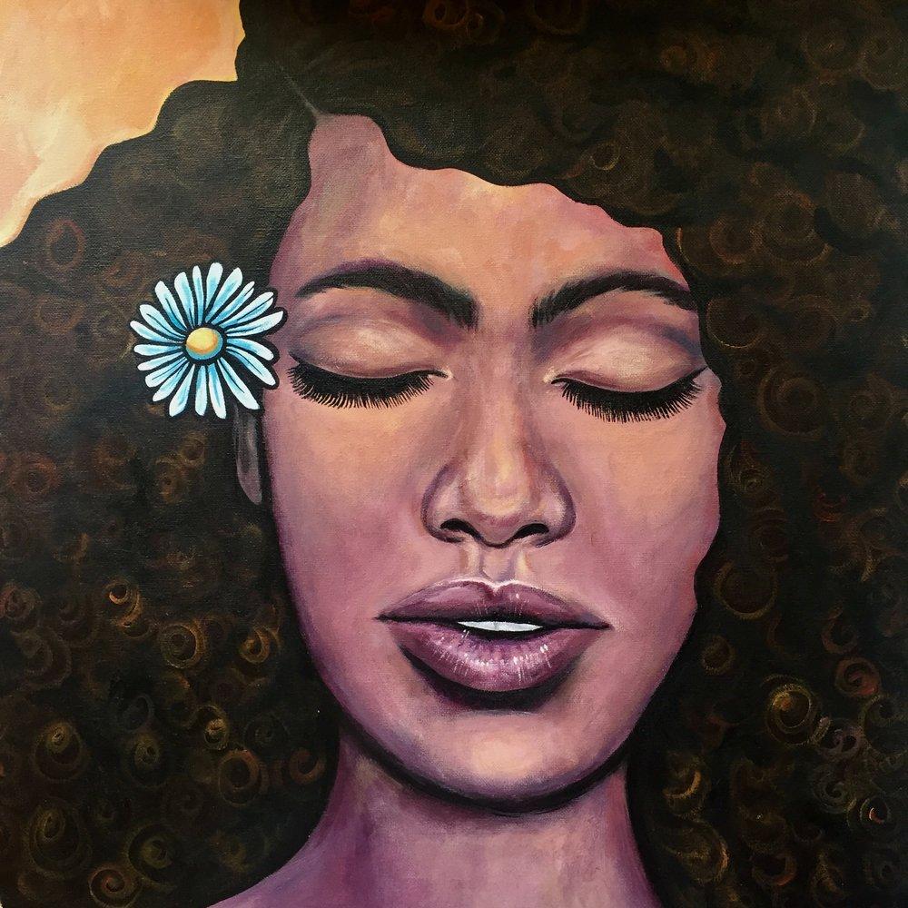 Radiance   2018. Acrylic on canvas. 20 x 20.