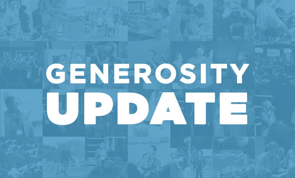 Generosity Update - Thank you for being a part of what God is doing through our church.Your giving to Church at the Springs this year has made a significant difference! Check out our Generosity Update for updates from the past year.