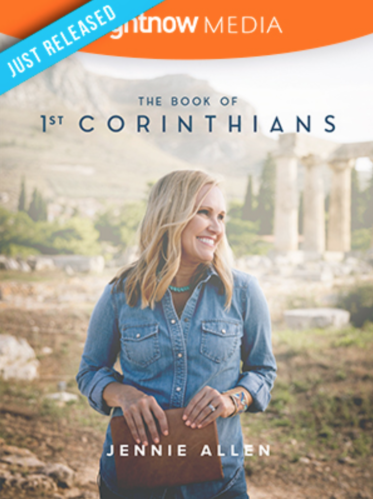 Jennie Allen • The Book of 1 Corinthians - In this 12-part series, author and speaker Jennie Allen walks into the messy lives of the Corinthians and takes us through Paul's words to the conflicted church. We'll see how the truth of the gospel and the Spirit of God can empower us to choose to follow Jesus every day of our lives.