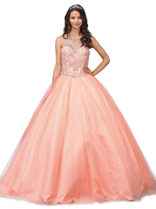 617213577be Quinceanera Dress. 1244 neon coral ...