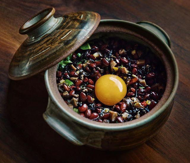 Kongjaban, Mori's Rice, Shiitake, Hijiki, Egg Yolk