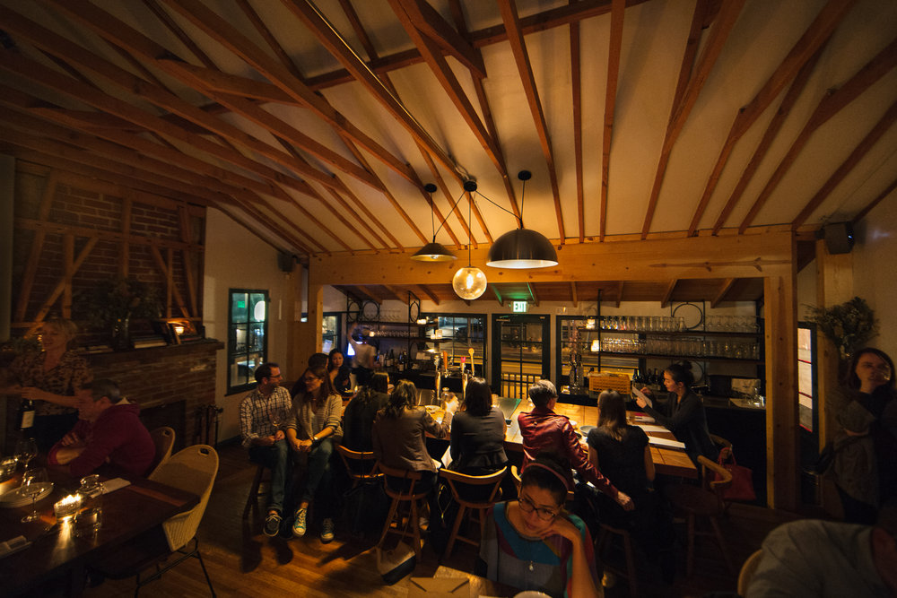 Wolfdown's lower dining area and bar. Photo Joanne Kim.