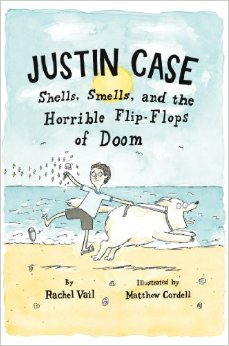 Justin Case: Shells, Smells, and the Horrible Flip-Flops of Doom  2012 Kirkus Reviews -- Starred Review (*)  2015 Grand Canyon Reader Award -- Intermediate (Nominee)  Junior Library Guild Selection  Arizona Grand Canyon Young Readers Maste, Bank Street Best Children's Book of the Year