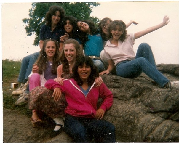 Not right away. I'm the one in front with the jeans and pink polo shirt and super awkward arm. 8th grade.