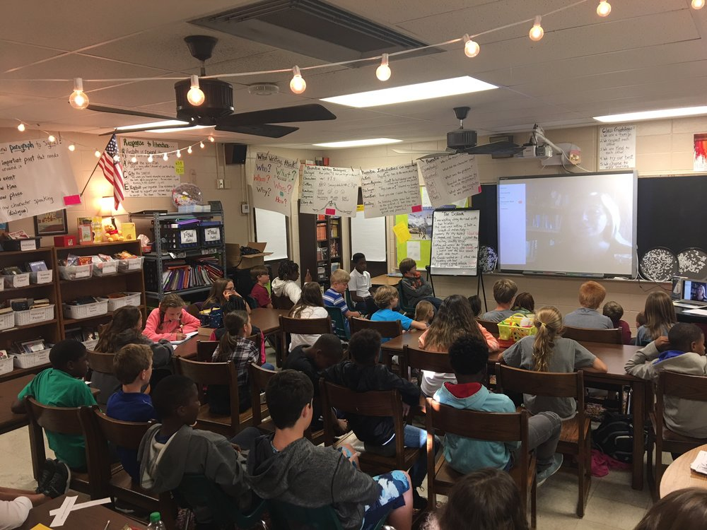 Such a fun Skype visit with Puckett Elementary School in Puckett, MS!