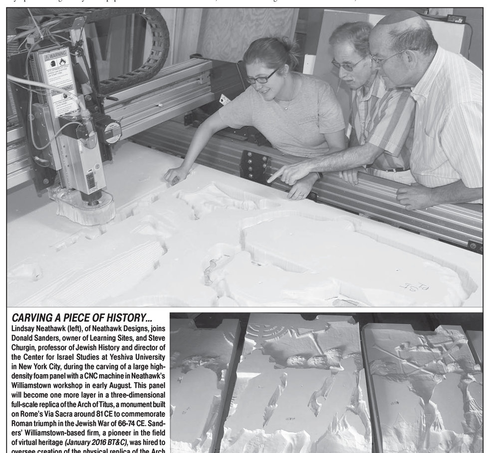 Berkshire Trade Magazine - Article written by Brad Johnson about the 'Spoils Panel: Arch of Titus