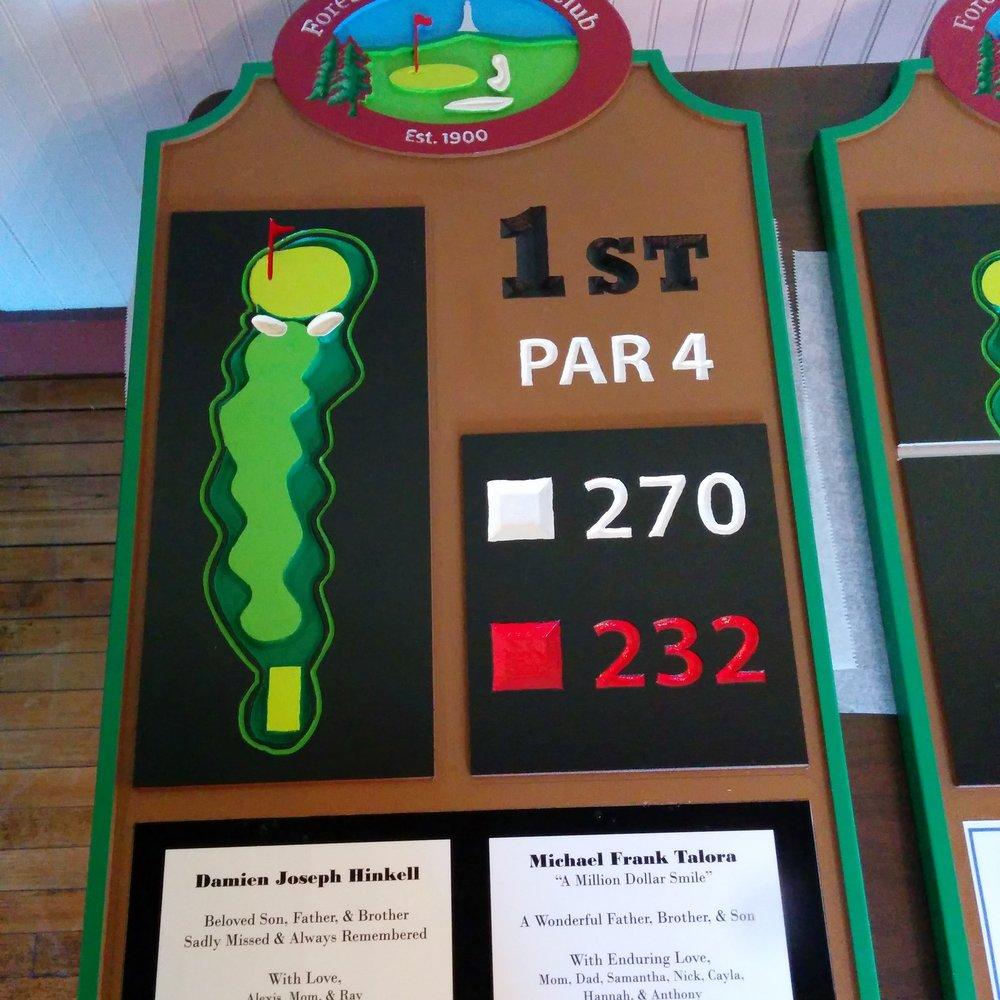 PVC - 2D - Golf course Hole Sign