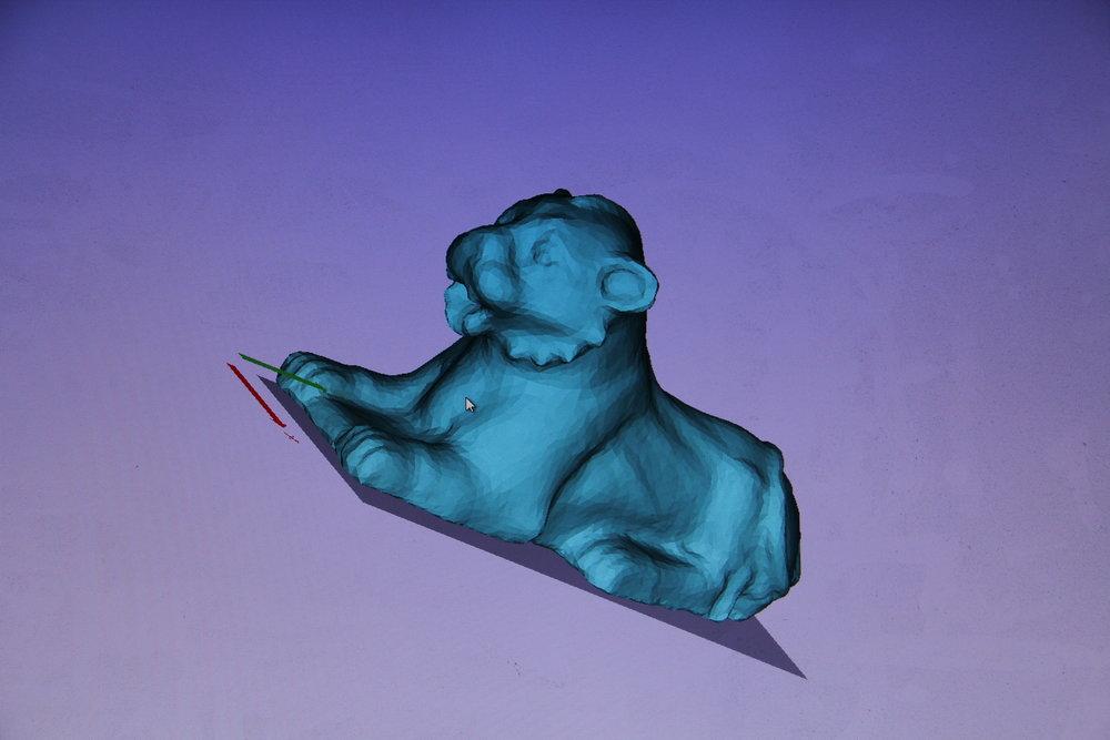 3D Rendering of Nuzi Lion