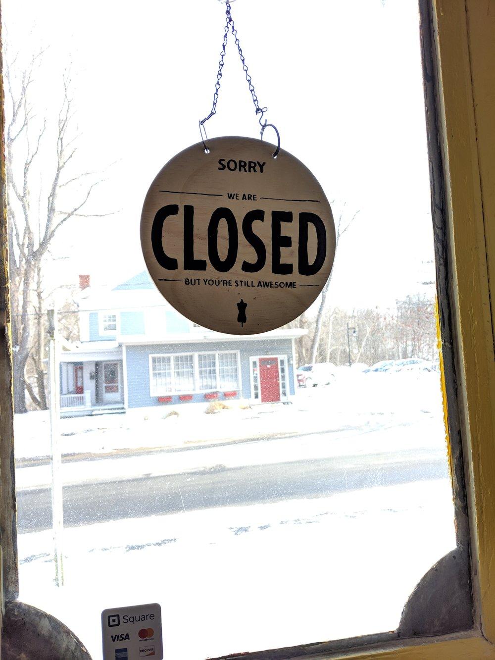 LOCAL closed