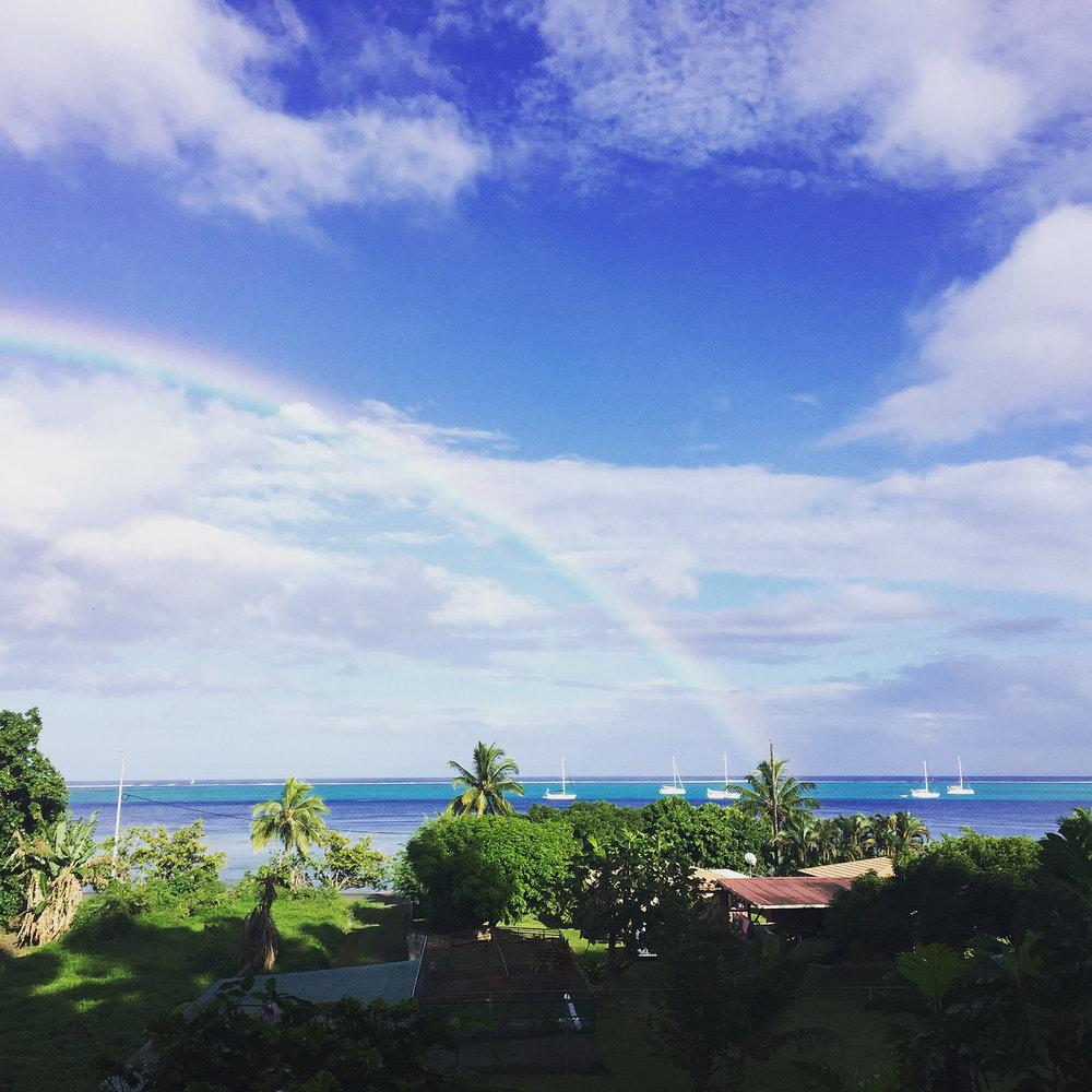 © Te Mana Travels — Beautiful island rainbow