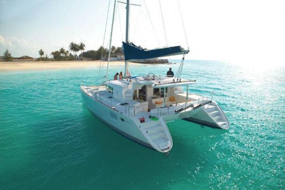 © Te Mana Travels — Catamaran anchored