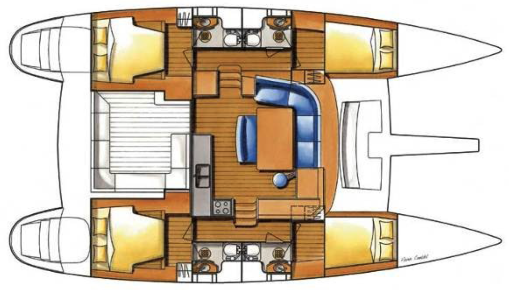 © Te Mana Travels — Catamaran floorplan
