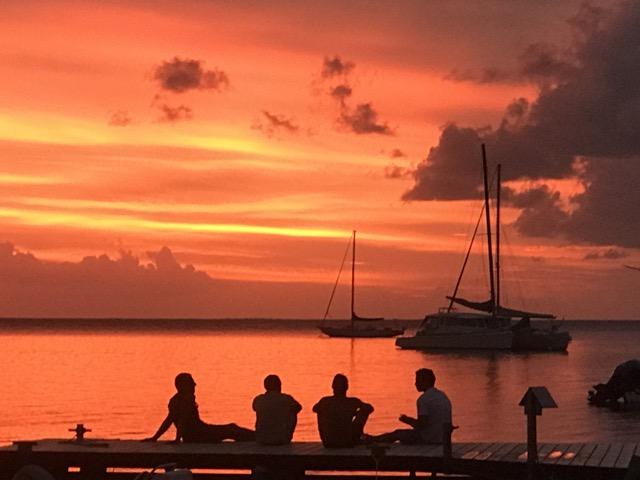 Sunset on the island of Tahaa!