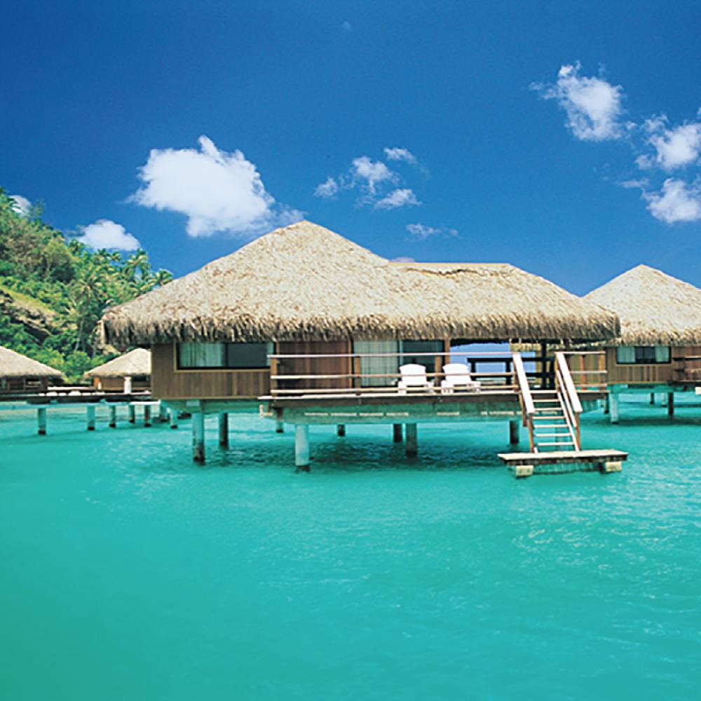 Te Mana Travels and Mariner Boating Holidays' Tahiti Escapade 2019 — Huahine overwater bungalows.