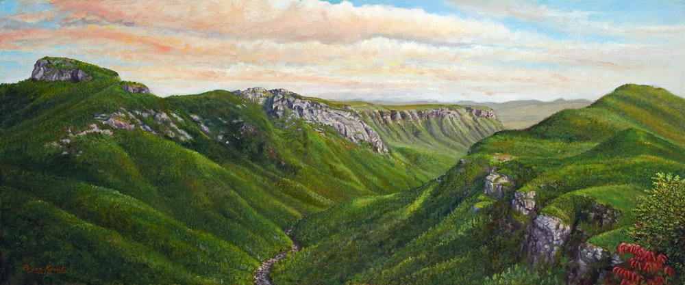 """Summer Evening over Linville Gorge"" - Bryan Koonts"