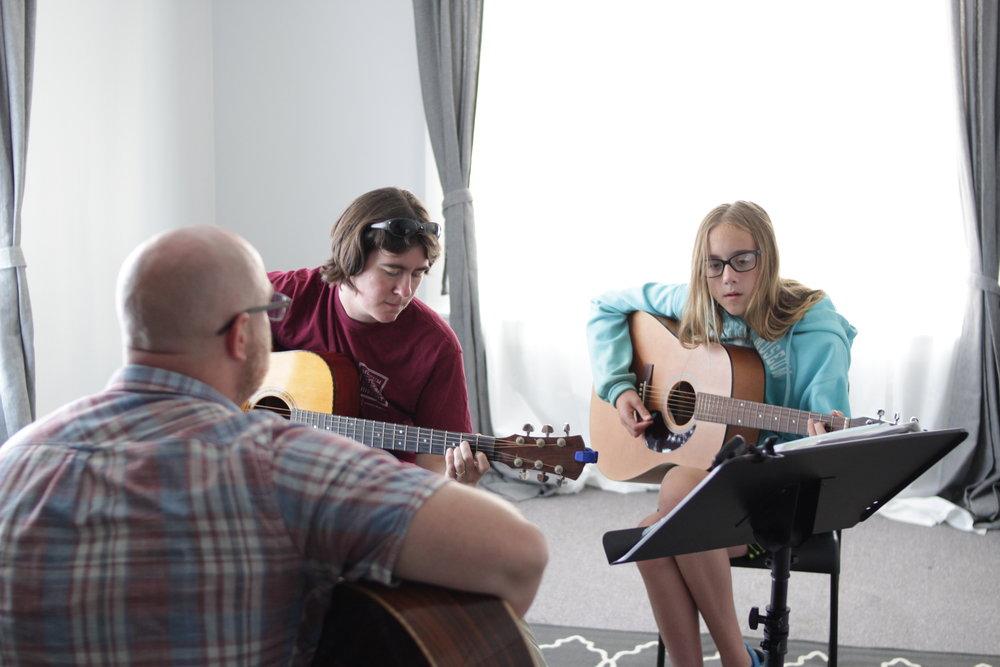 Guitar Lesson at GuitarClimb Music Lesson Studio in Eugene Oregon