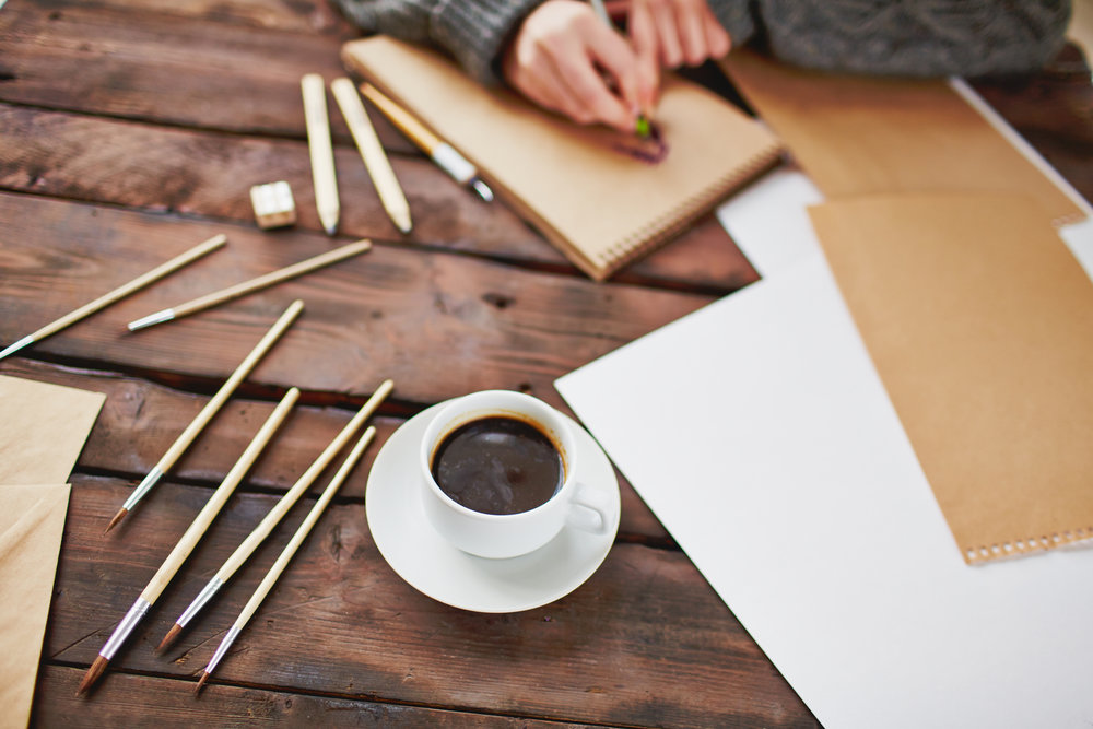 Coffee and art objects