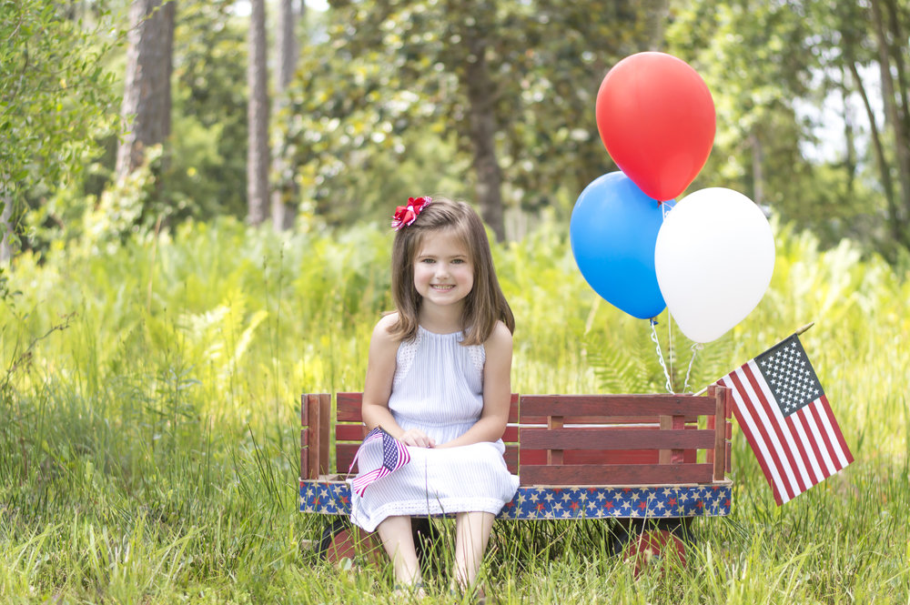 Little Girl 4th of July Portrait