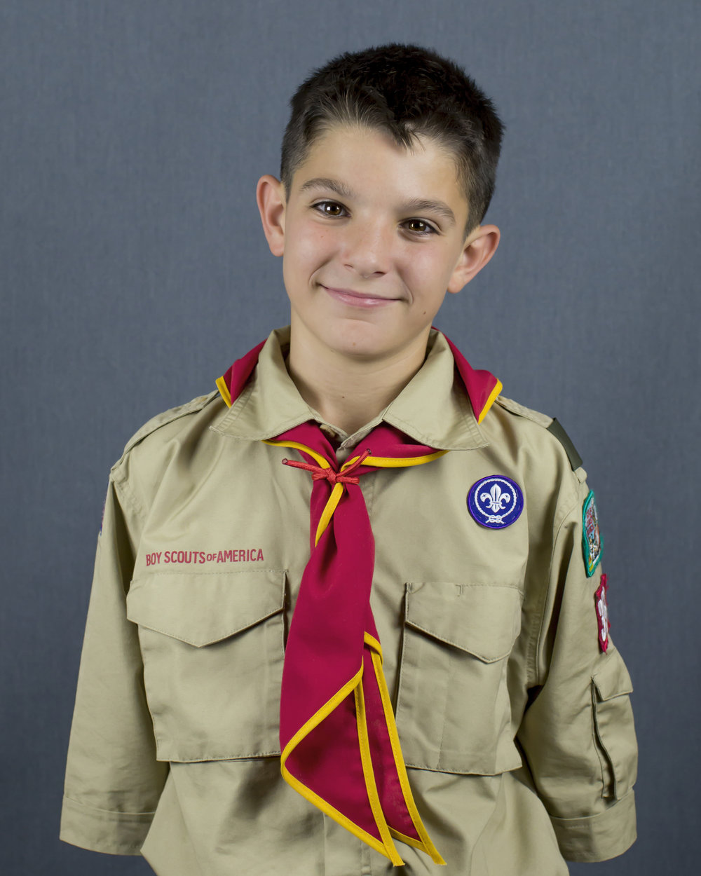 Boy Scout Headshot Portrait