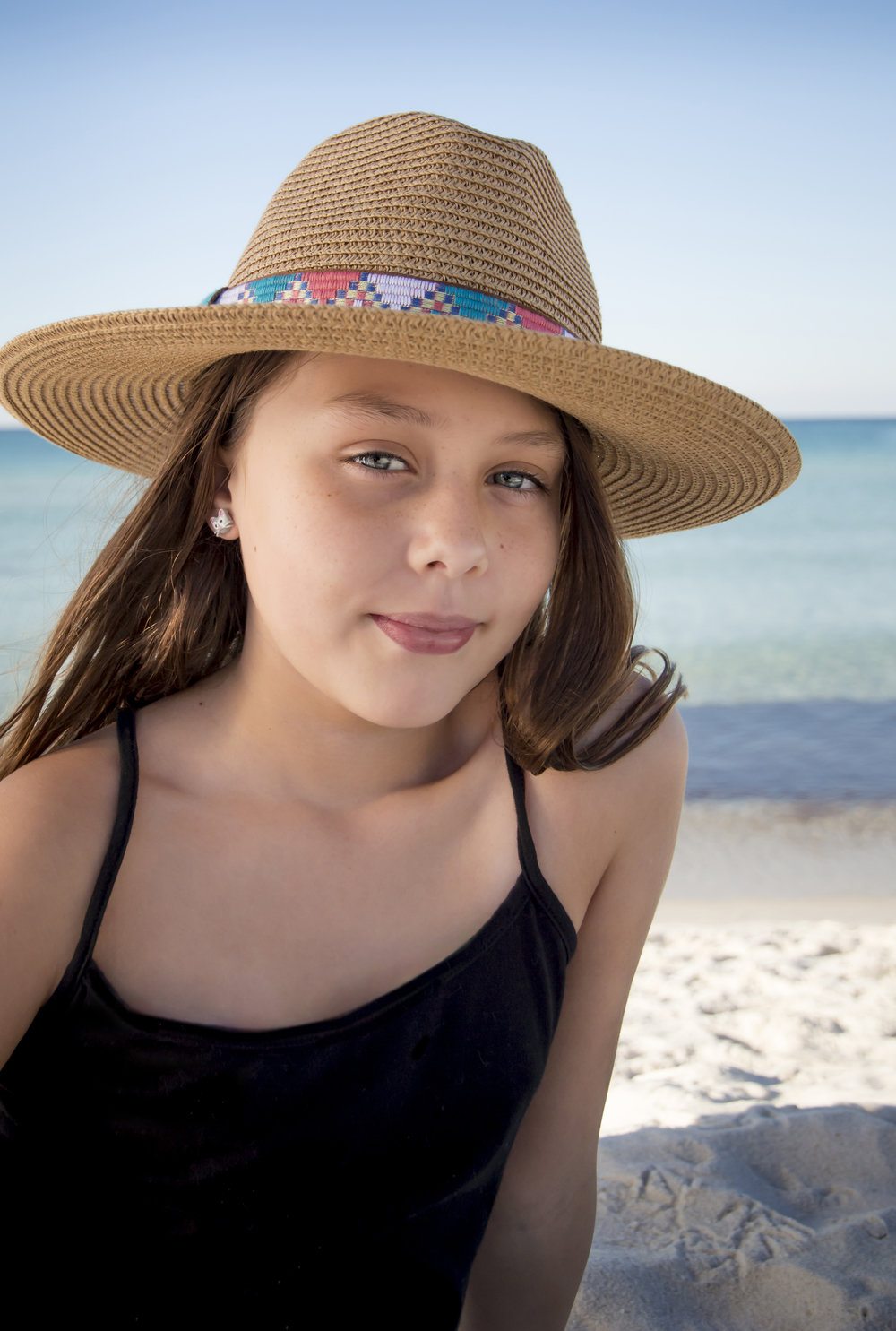 Little Girl Beach Photo
