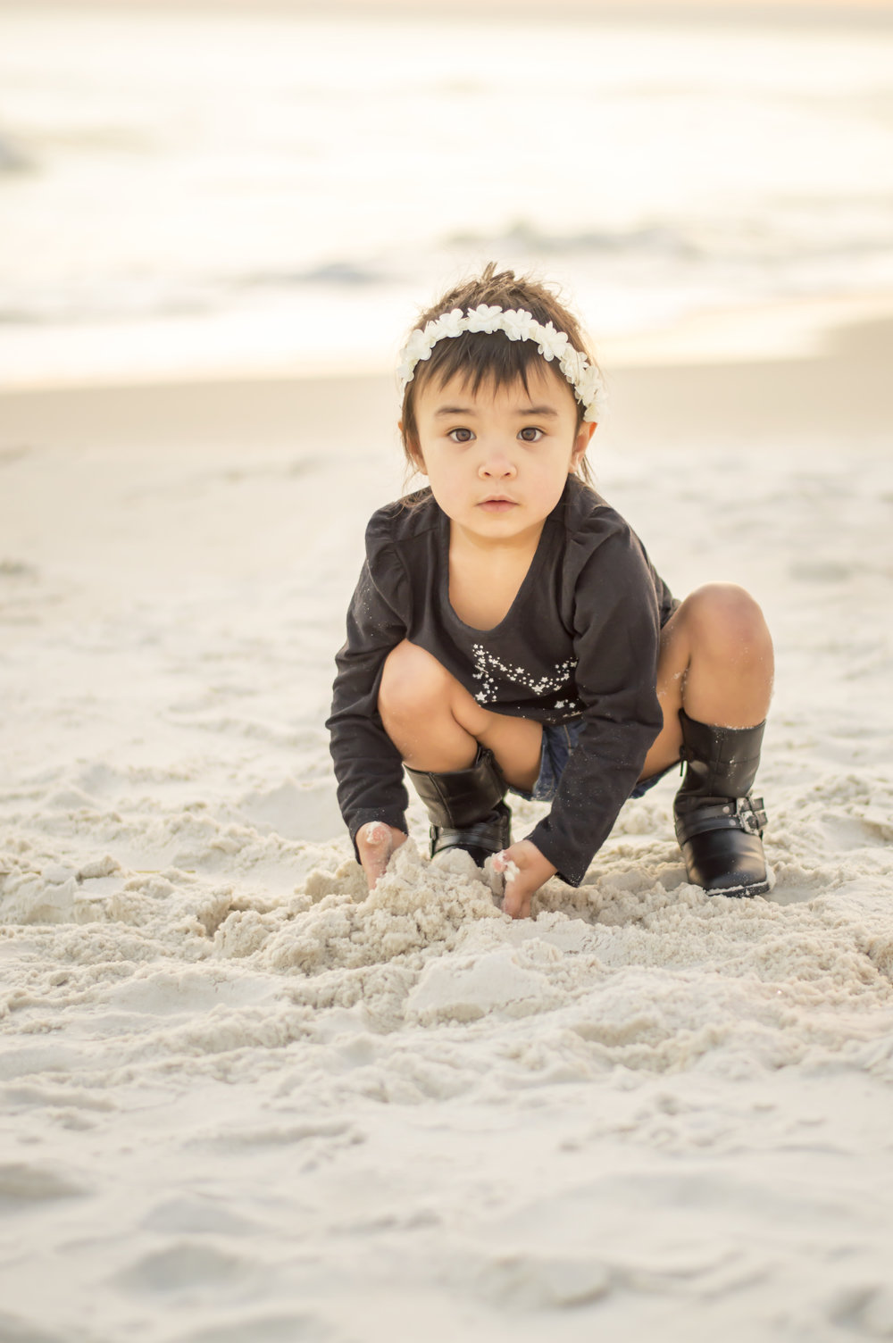 Child on Beach Photo