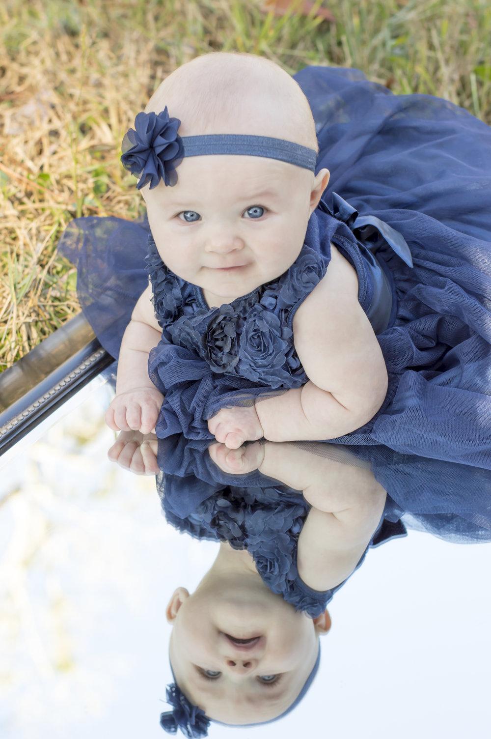 Baby Girl Outside Photo