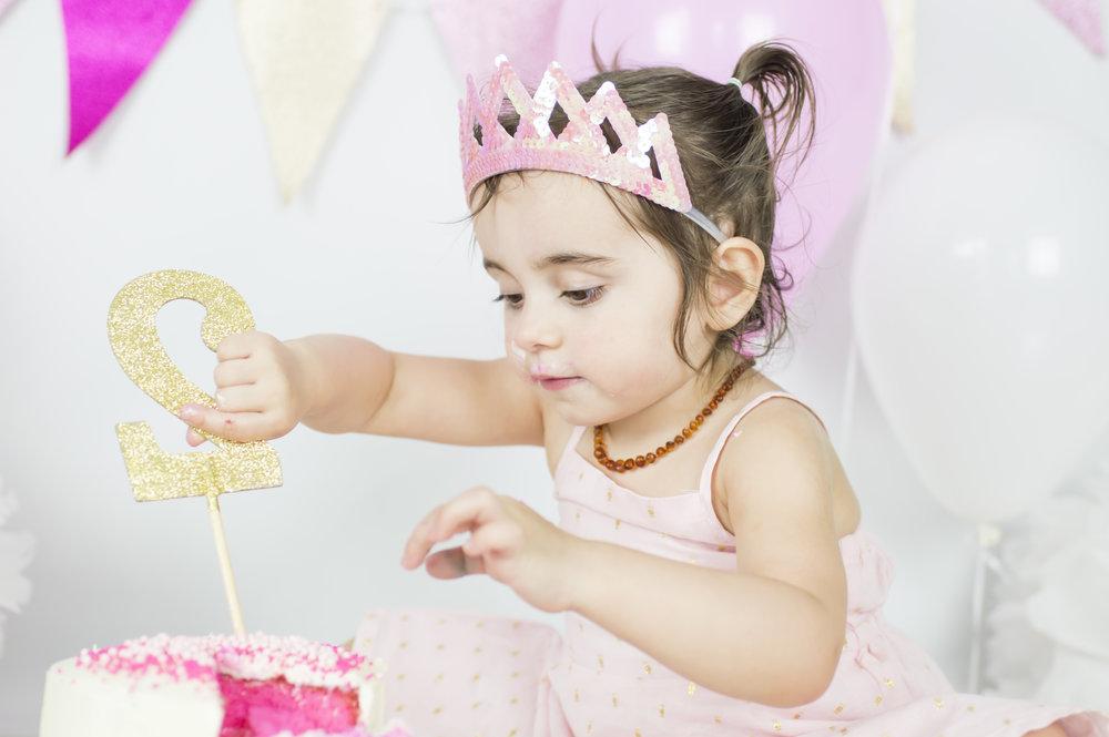 Little Girl Cake Smash