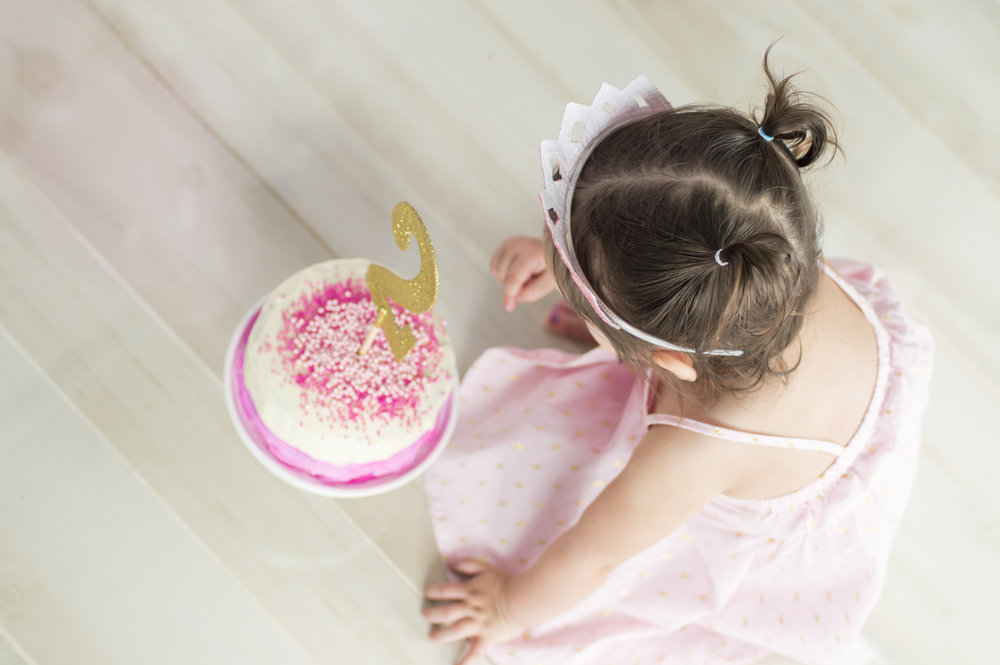 Little Girl Cake Smash Photo