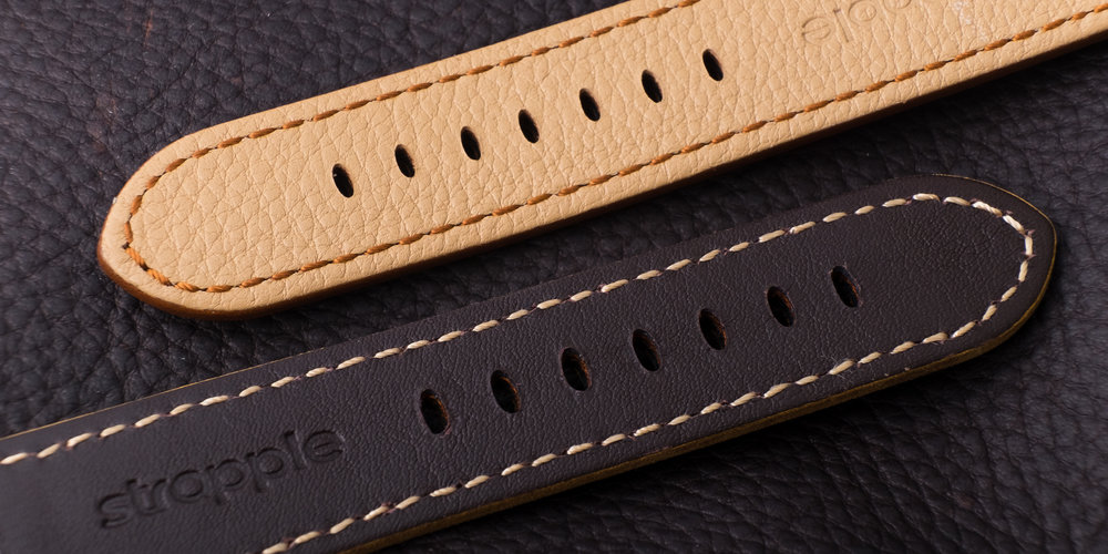 Traditional thread and stitching used for Apple Watch straps