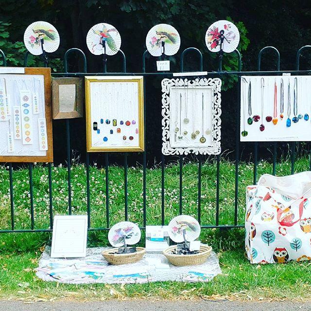 Art In The Park at Romsey war memorial today!  #artinthepark #romsey #hampshire  #fusedglass #jewellery